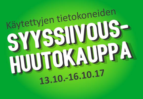 Syyssiivous-huutokauppa tulee taas 13.10.-16.10.!